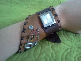 Steampunk-inspired watch no. 2 by QuixoticExoticism