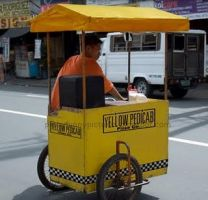 Yellow Pedicab by JDwhack