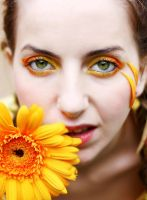 love orange flower by ioana-boroda