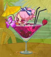 Strawberry summer cocktail by SakikoAmana