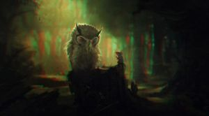 Grumpy Owl 3-D conversion by MVRamsey