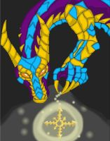 dragon and compass star by Keirii-of-Celts