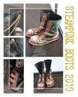 Steampunk Boots 2010 by KyoMono