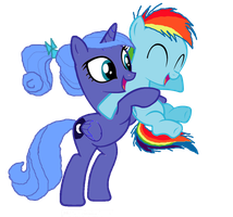 Foalsitter Luna and Filly Dash by EquestianRacer