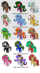 Adoptable Ponys!!! 5 Points Each!!! by MrHypn0sis