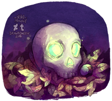 Drawlloween 2016 Day 3 - Skull by Yuki-Almasy