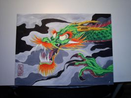 Dragon Painting by 921studios