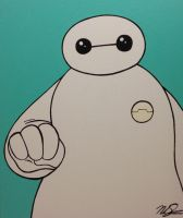 Baymax Fist Bump by NoahSturm