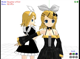 Daughter of Evil and Maid Rin by MeerD