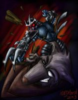 Shredder VS Splinter by ninjatron