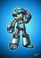 Beck - Mighty No. 9 (Color) by illustrationoverdose