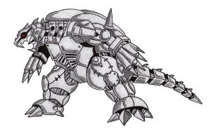 Mecha Gamera by roninpersus