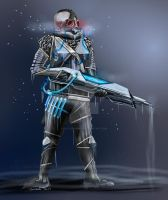 Mr Freeze Character by sillyscribbler