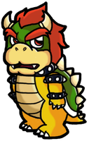 Bowser - Evil Lies Within by silvermonochrome