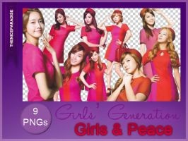 Girls and Peace  SNSD | 9 pngs by lillullabyblue