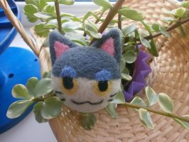 Needle felted Animal Crossing - Punchy! by Panda-Devil