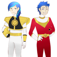 Shining and Flash as Power Rangers by mimimikasa by RioDecade96