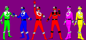 Time Force With Overdrive Pose for Davontew1 by rangeranime