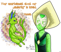 Peridot and Shiny Espeon: No difference at all. by Nezisa-Aksem