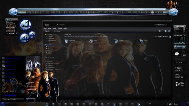 Windows7 Themes:The Fantastic4 by TheBull1