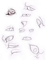 Eye sketches by FlamewolfTheWhite