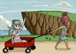 Wagon Stroll by Icy-Snowflakes