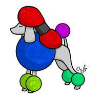 Poodle in Assorted Colors by DragonNightArt