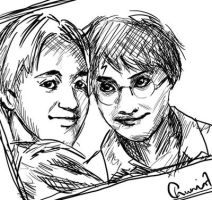 Young Draco and Harry by chuunin7