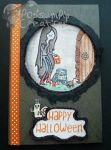 Handmade/Painted BMO Trick Or Treat Halloween Card by PossumPip-Creations