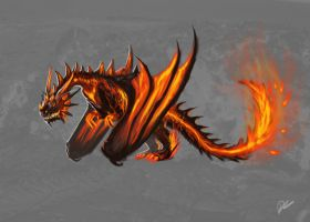 Lava Dragon by Decadia