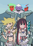 Panty and Stocking with Garterbelt. [Art Print] by caffeineDetective
