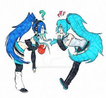 Miku Meets Ane. COLORED. by Meadonroe