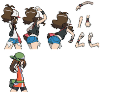 Pokemon BW- May Trainer Back by luckygirl88