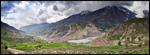 Manang and the Marsyangdi Nadi by Dominion-Photography