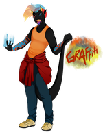 Flaming Paint Demon Named Graffiti by GingerQuin