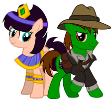 The Cleopatra and her Explorer by sjf95fighter