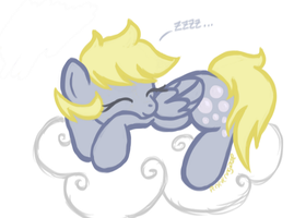 Sleepy Derpy by perseveringrose
