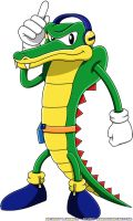 Classic Vector the Crocodile by Advert-man