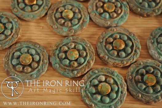 Captain Blackbeard's frock coat buttons by TheIronRing