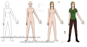 Mallady concept sketch and anatomy by BahamutDeusModus