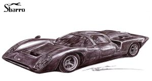 Sbarro Lola T70 Le Mans Race Car by toyonda