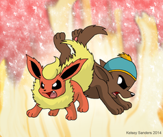 South Park: Cartman and Flareon by KelseyEdward