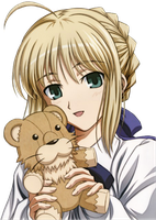 Saber With Teddy by warriorpredator