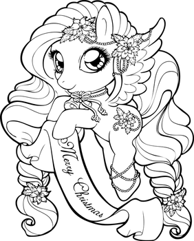Christmas Pony by Chibivi-Linearts