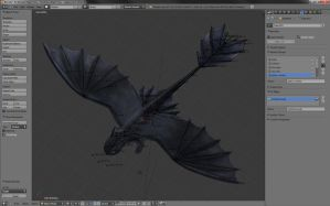 Toothless WIP - i hate rigging.. by mikilake92