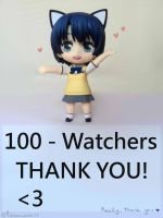 THANK YOU FOR 100 WATCHERS! by MichibanCupcakes
