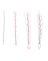 Drawing Braids Tutorial by fluffpuffgerbil