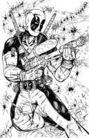 Deadpool - inks by teamzoth