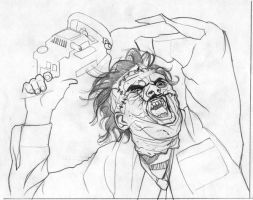 Leatherface sketch 2 by gatchatom