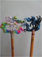 PrincessCelestia and Princess Luna by JOPUTAPELIRROJO